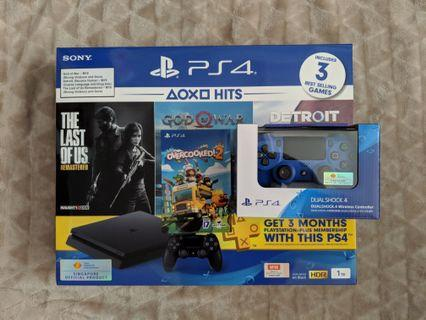 🚚 Latest SONY PS4 Slim 1TB Hits Bundle With 2ND Controller and Full Overcooked 2 Game Digital Download (Brand New Local warranty Set)