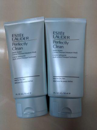買一送一estee Lauder perfectly clean multi action cream cleanser moisture mask