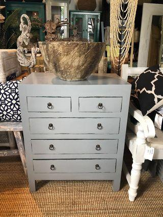 Brand new! Antique Grey Chest of Draws