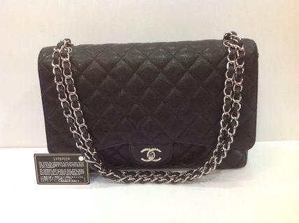 CHANEL CLASSIC CAVIAR MAXI SINGLE FLAP SHW