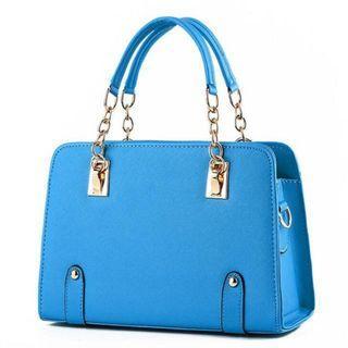 LUXURY SHOULDER BAG.  BLUE