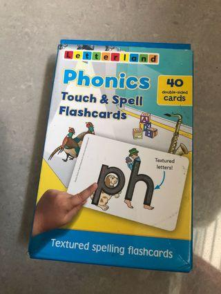 🚚 Flash Cards Phonics Touch &Spell