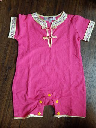 🚚 Chinese knots romper baby girl (L)