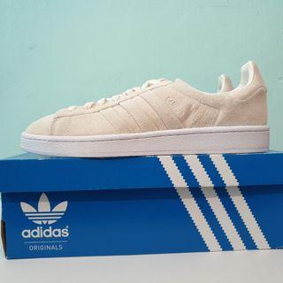 8be9050fd5b57 US11 Adidas Originals Campus Stitch and Turn Cream White