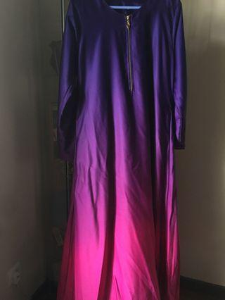 Jubah ombre purple