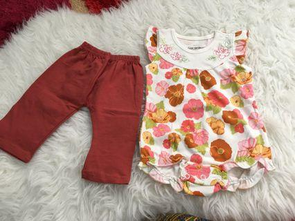 Set romper and pants size 3 months