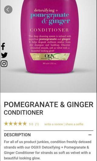 ogx pomegranate & ginger conditioner