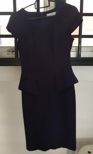Love bonito office dress navy blue