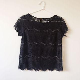 Forever New lace top size 6