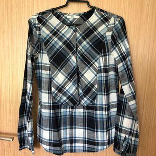 🚚 Esprit Checkered Long Sleeve Blouse #EndGameYourExcess