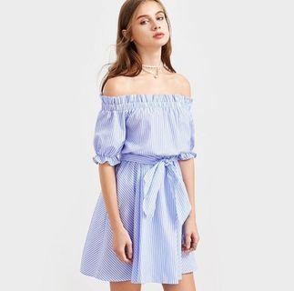 Dress cantik shoulder off