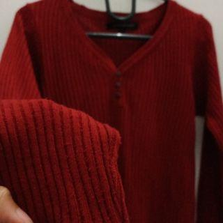 Knit top red