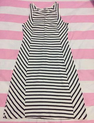 Mididress stripe