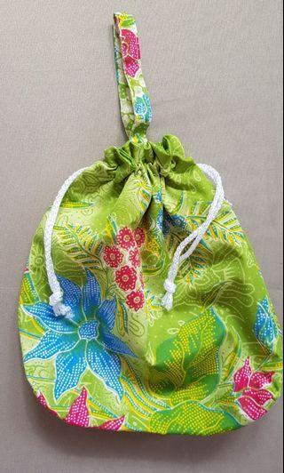 Batik Drawstring / Bucket Cosmetic Bag