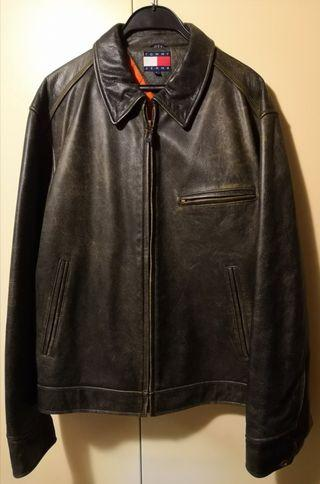 Tommy 空軍款真皮褸, Tommy Air force style leather jacket.