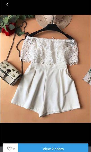 🚚 White Lace Romper