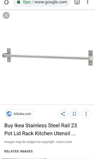 Ikea Grundtal Rail 59cm