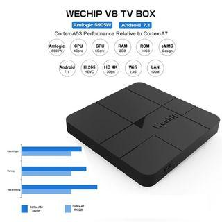 (J336) WeChip V8 Android 7.1 TV Box - Self Collect Only