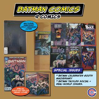 Batman Comics with Special Covers