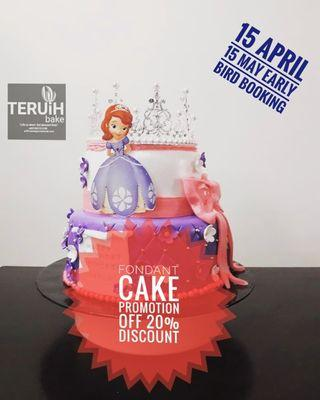 Promotion Customized Cake (Fondant cake)
