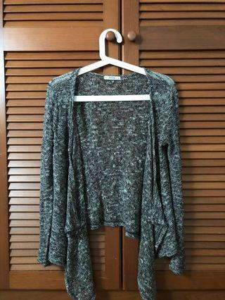 BERSHKA Knitwear Asymmetrical Cardigan