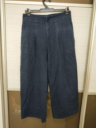 The Editors Market Navy pants Denim Culottes