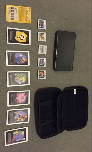 New Nintendo 3DS XL (with games+case+charger)