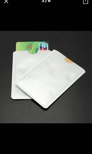 Silver Anti Scan RFID Sleeve Protector Credit ID Card Aluminum Foil Holder Anti-Scan Card Sleeve