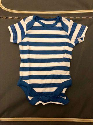 (Free post包郵) 嬰兒夾衣 mothercare new born sleepsuit bodysuit Blue Stripes