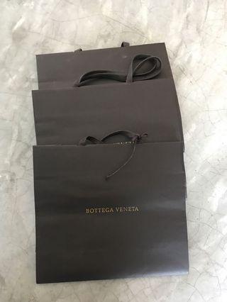 BOTTEGA VENETA PAPER BAGS X3