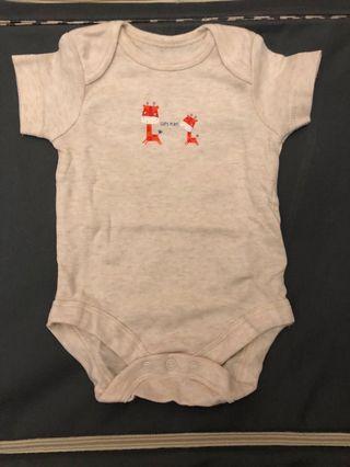 (Free post包郵) 嬰兒夾衣 mothercare new born sleepsuit bodysuit cow