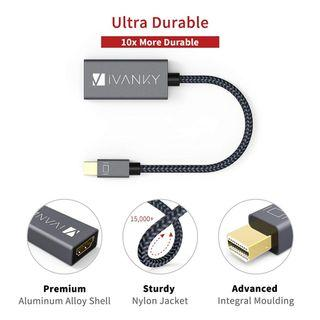 (J333) iVanky Mini DisplayPort to HDMI Adapter - Self Collect Only
