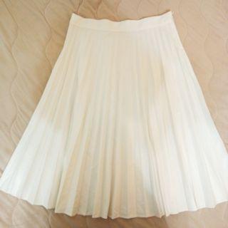 🚚 降❗ZARA   白色百褶中長裙