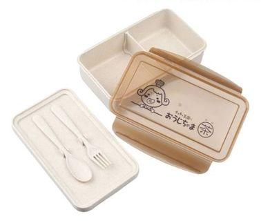 🚚 茶茶小王子小麥纖維環保餐盒+  烹飪圍裙