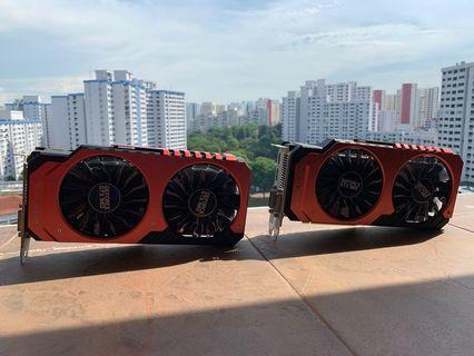 PAIR OF PALIT GTX960 JETSTREAM 4GB