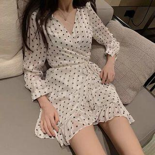 Po: pokka dots long sleeves dress
