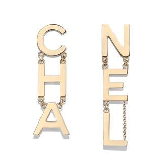 🚚 Authentic Chanel Letter Earrings (Hard to find)