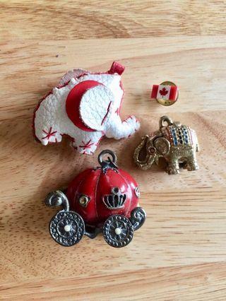 Metal Pendants and Canadian Pin