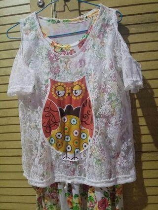 Dress Lace Owl