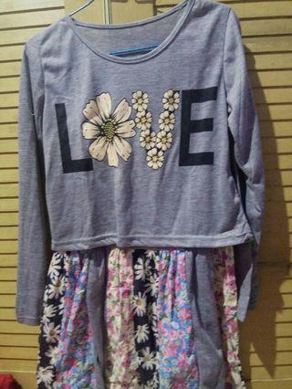 Dress Floral Loves Two pcs