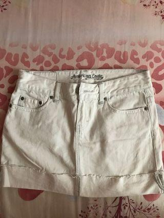 American Eagle Denim Skirt in white
