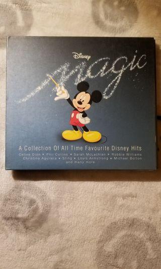 Disney Magic A Collection Of All Time Favourite Disney Hits 2CD 一手CD 巳多年沒播過 加国回流運回港的 美孚地鐵站MTR交收