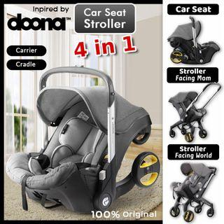 Doona Inspired 4 In 1 Stroller Carseat Baby Cradle 2 way Facing Baby Stroller