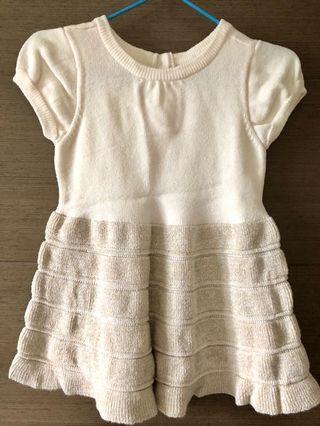 線棉連身裙•6-9m•99%new