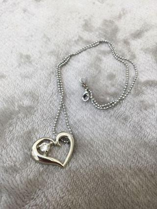 🚚 愛心美鑽項鍊一條