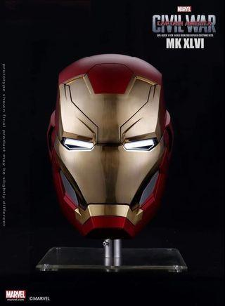 Wearbale Cosplay - Iron Man 1/1 Scale MK46  Helmet (Not Hot Toys, Prime One Studio, XM Studios