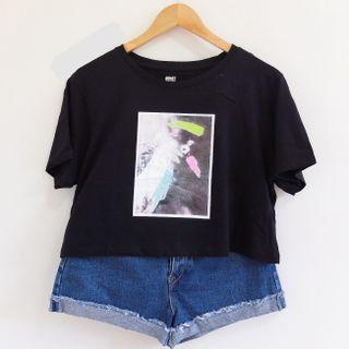 Cotton On Loose semi cropped shirt