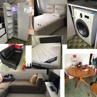 Move House Sale- Fridge, Washing Ma., Bed, Sofa, DiningTable