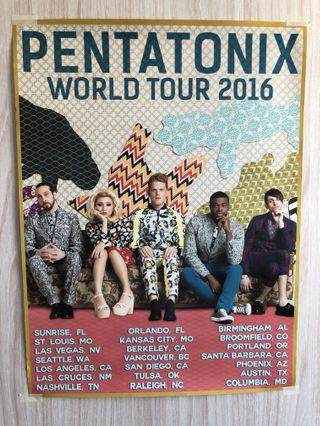 Pentatonix 2016 World Tour poster
