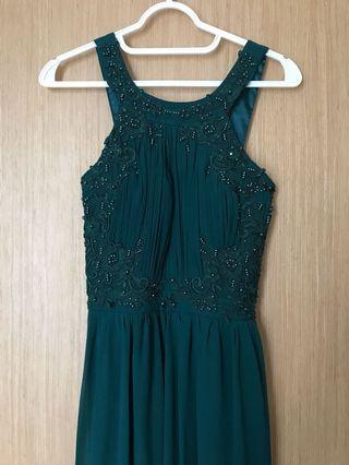emerald green dress/gown